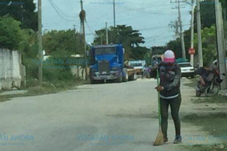 Componen calles en Kanasín… solo porque llega 'Alito'