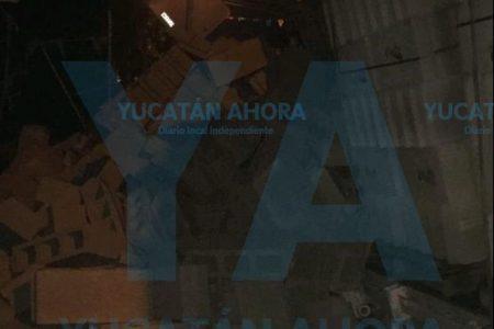 Socavón y derrumbe en un kínder de San Antonio Kaua