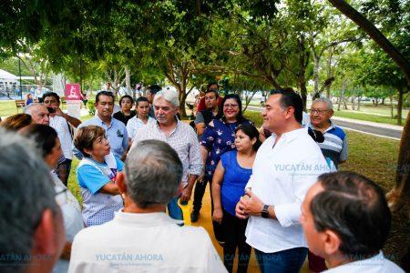 Renán Barrera entrega nuevo parque diseñado con participación ciudadana