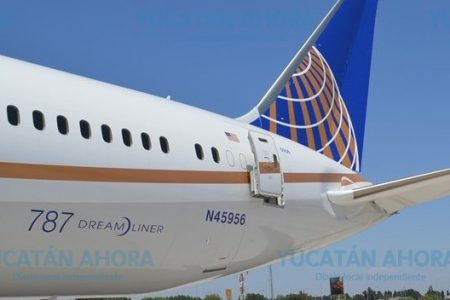 Aterriza de emergencia en Mérida avión de ruta internacional
