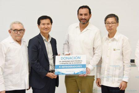Estrena refrigeradores el Hospital de la Amistad Corea-México