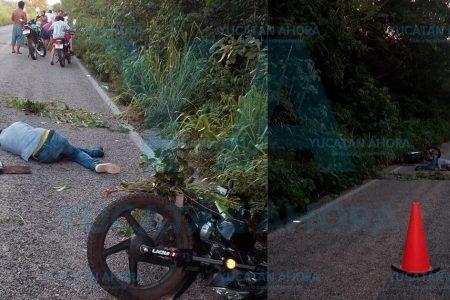 Motociclista ebrio termina grave al derrapar
