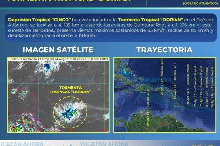 Se forma en el Atlántico la tormenta tropical Dorian