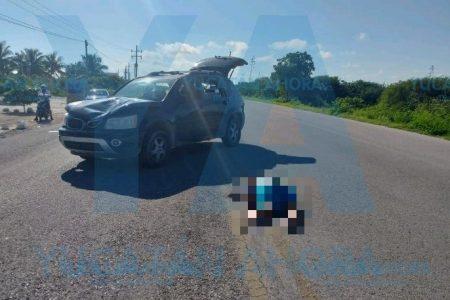 Trágico accidente en la costera Telchac-Uaymitún