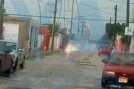 Incendio de cables de alta tensión en Juan Pablo II