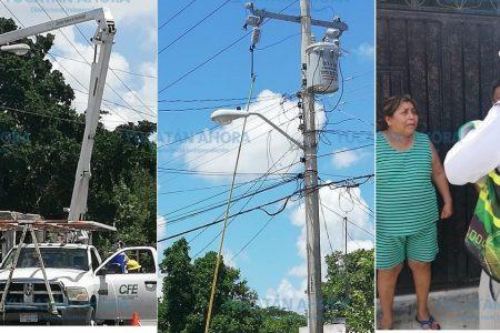 CFE elabora proyecto para mejorar el servicio en San José Tecoh