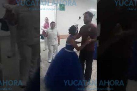 Emotiva fiesta de XV años en una sala del hospital O'Horán