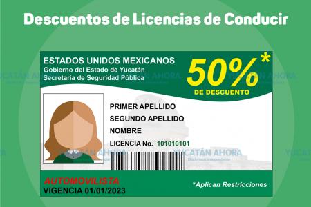 Tramita tu licencia con 50 por ciento de descuento