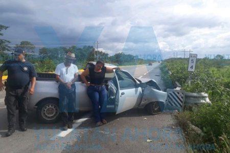 Otro meridano accidentado en carretera