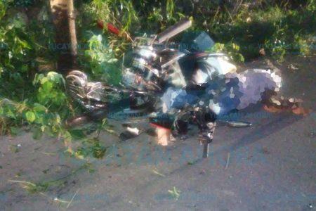 Madrugadora tragedia de joven motociclista