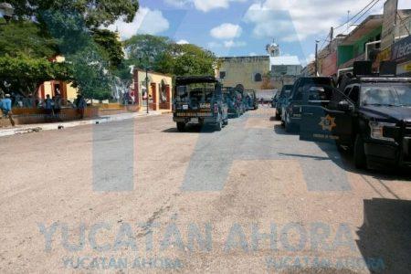 Disturbios en Oxkutzcab dejan 14 detenidos; varios son menores de edad