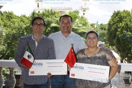Renán Barrera entrega apoyos a estudiantes de excelencia