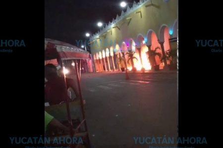 Detienen a tres involucrados en incendiaria protesta