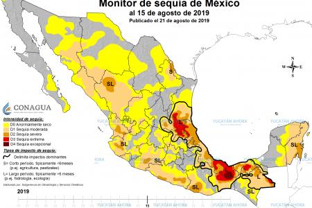 Avanza la sequía en la Península de Yucatán