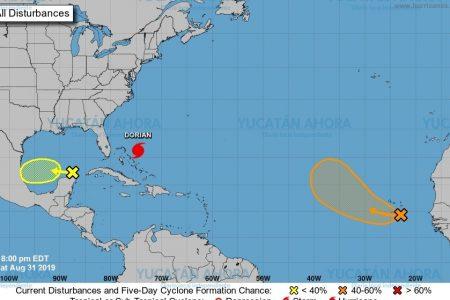 Zona de inestabilidad sigue frente a Yucatán, con bajo potencial ciclónico