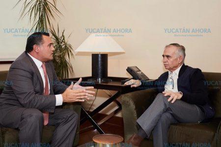 Renán Barrera gestiona apoyos ante la Presidencia de la República