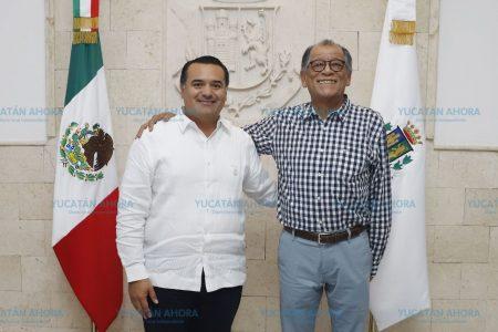 Renán Barrera acuerda trabajo conjunto con el Gobierno Federal