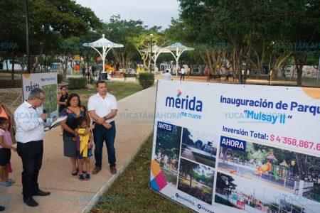 Entregan primer parque en el Pulmón de Mérida