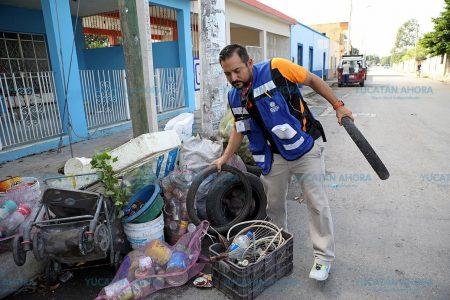 Yucatecos participan activamente en la segunda campaña de descacharrización