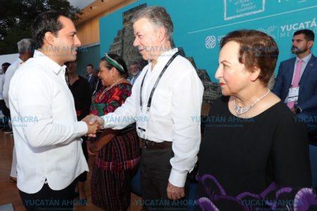 Juan Manuel Santos destaca la hospitalidad de los yucatecos
