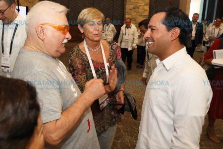 Yucatán, importante actor en la construcción de la paz: Lech Walesa