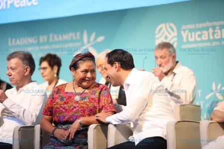 Yucatán, con liderazgo para la paz: Rigoberta Menchú