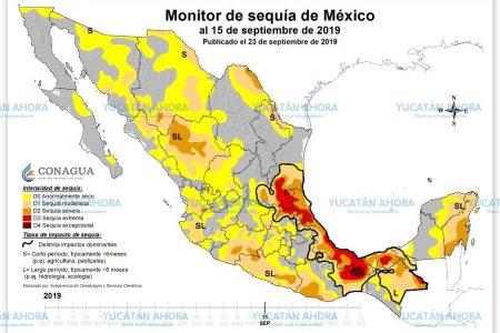 La Península de Yucatán, con cinco meses de déficit de lluvias