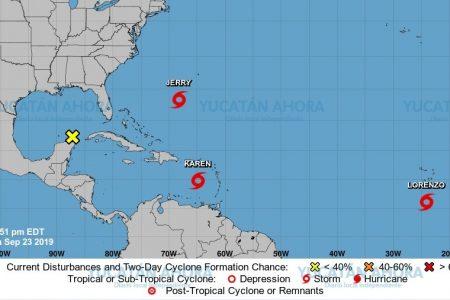 Vigilan zona de baja presión en la Península de Yucatán