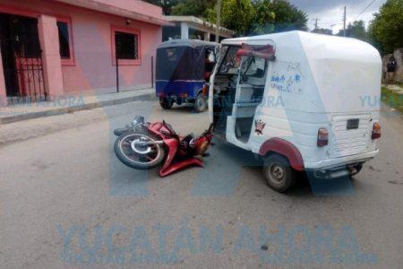 Mototaxi sin placa manda a volar a madre e hijo