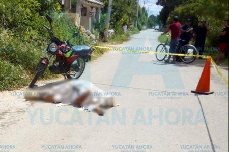 Se sintió mal, detuvo su moto y al bajar un infarto le quitó la vida