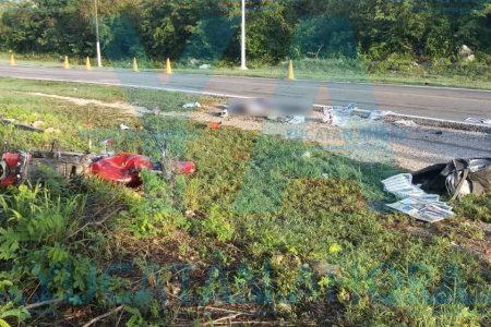 Trágico choque: invade carril de motociclista y lo mata