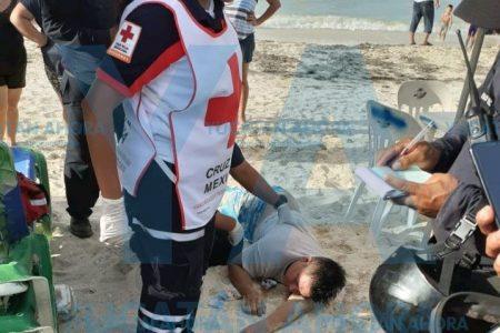 Casi se ahoga en Progreso un turista capitalino