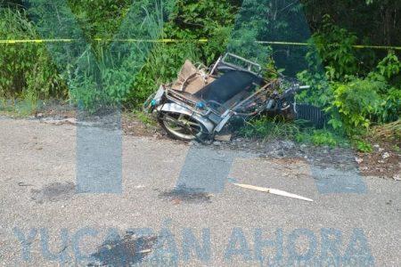 Muere abuelita de 74 años en encontronazo de taxi y mototaxi