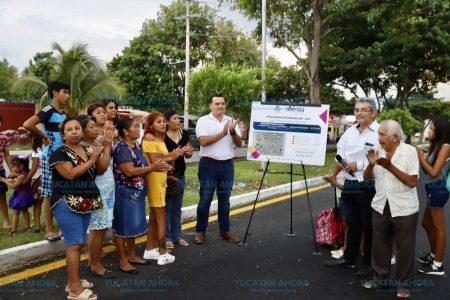 Entregan la repavimentación de la avenida Mérida 2000