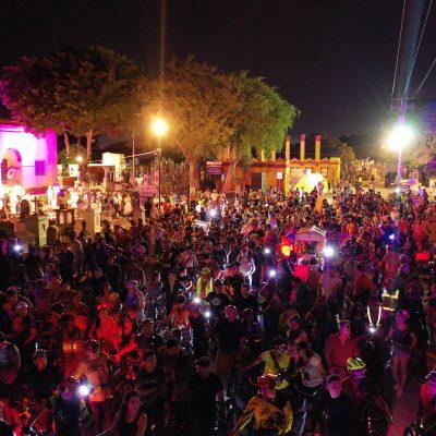 Ánimas en bicicleta toman las calles de Mérida
