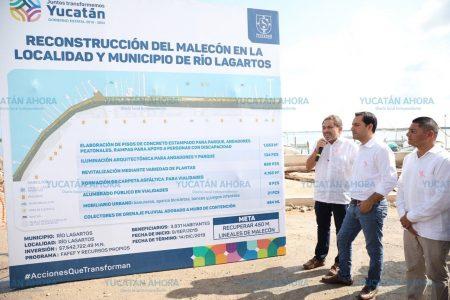 En marcha las obras para mejorar el Malecón de Río Lagartos