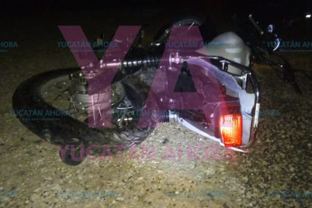 Huye tras matar a un motociclista en la carretera Baca-Motul