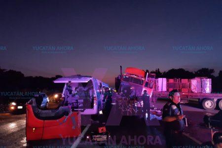 Trágico choque en la carretera Mérida-Motul
