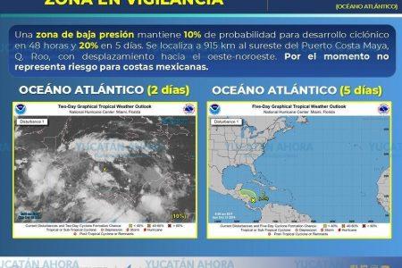 Vigilan potencial ciclón que avanza hacia la Península de Yucatán