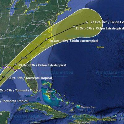 Tormenta 'zurda' en el Golfo de México