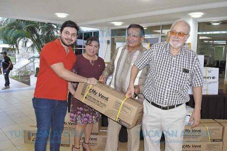 Ex alumnos donan ventiladores al Tecnológico de Mérida