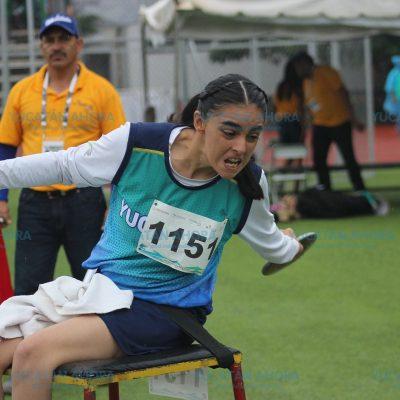 Dorado cierre de Yucatán en atletismo de la Paraolimpiada Nacional