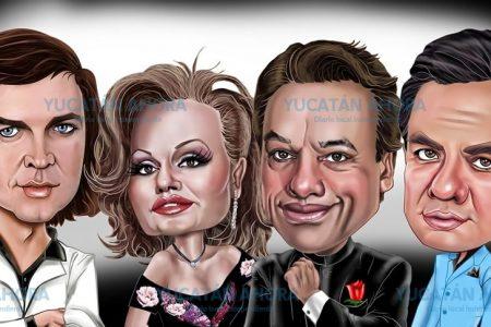 Cuarteto viral de famosos, al estilo de la caricaturista Castroe