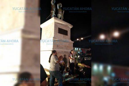 Intentan sembrar una ceiba en el monumento a los Montejo
