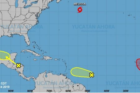 Mal tiempo pasará al sur de la Península de Yucatán