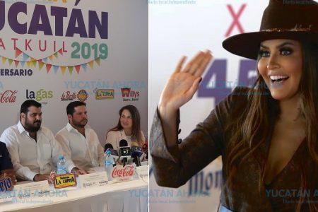 La boricua Vanessa Claudio, reina de la Feria Yucatán 2019