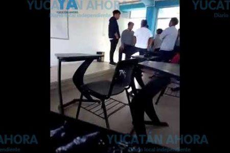 Golpea a estudiantes por diversión y hasta lo graba en video