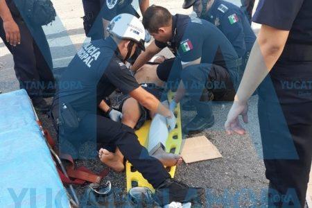 Autobús de Kanasín atropella a ciclista en el centro de Mérida