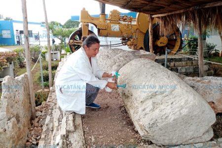 Dan mantenimiento a 'aplanadora maya' que hizo 'autopista' prehispánica