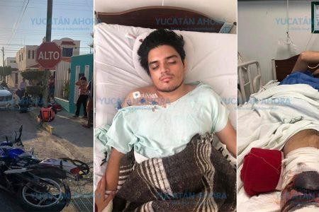 Piden ayuda para joven repartidor de Rappi atropellado